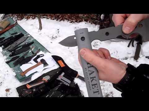 Snow Bushcraft And Many Knives