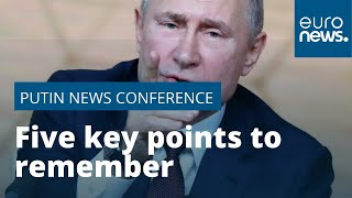 Five key points from Russian president Vladimir Putin's four-hour news conference