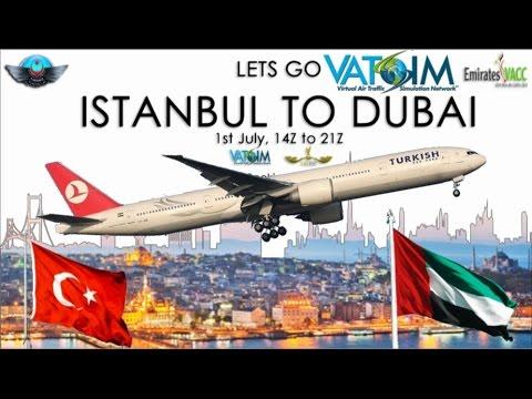 PMDG B77W on Vatsim - Let's Go Istanbul to Dubai