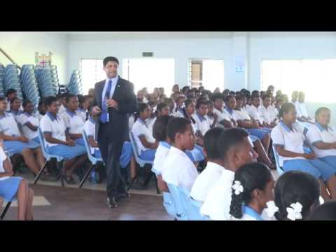 Fijian Attorney General holds Budget Consultations for High School students in Ba
