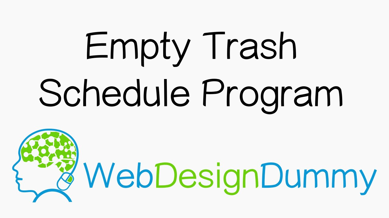 Empty Trash Program using Launchd and Applescript on a Mac