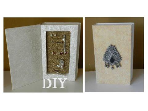 DIY: Шкатулка для бижутерии из книги.  Мастер класс.