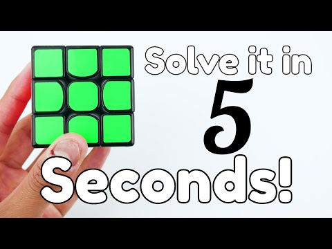How To Solve A Rubiks Cube In 5 Seconds Easy Youtube