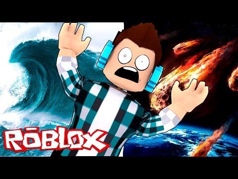 Roblox - TSUNAMI E METEOROS  !! (Roblox Natural Disaster Survival)