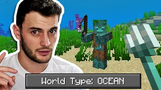 Can You Beat Minecraft in an ALL OCEAN World?