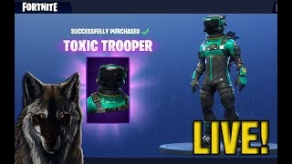 "NEW ""TOXIC TROOPER"" SKIN in FORTNITE BATTLE ROYALE WITH SUBSCRIBERS LIVE!"