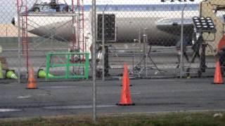 ABC's Pan Am Filming at Republic Airport Farmingdale, New York