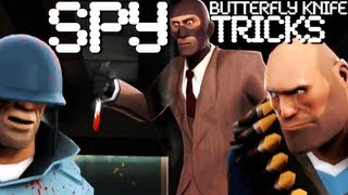 TF2 Spy Butterfly Knife/Balisong Tricks - Tutorial 1