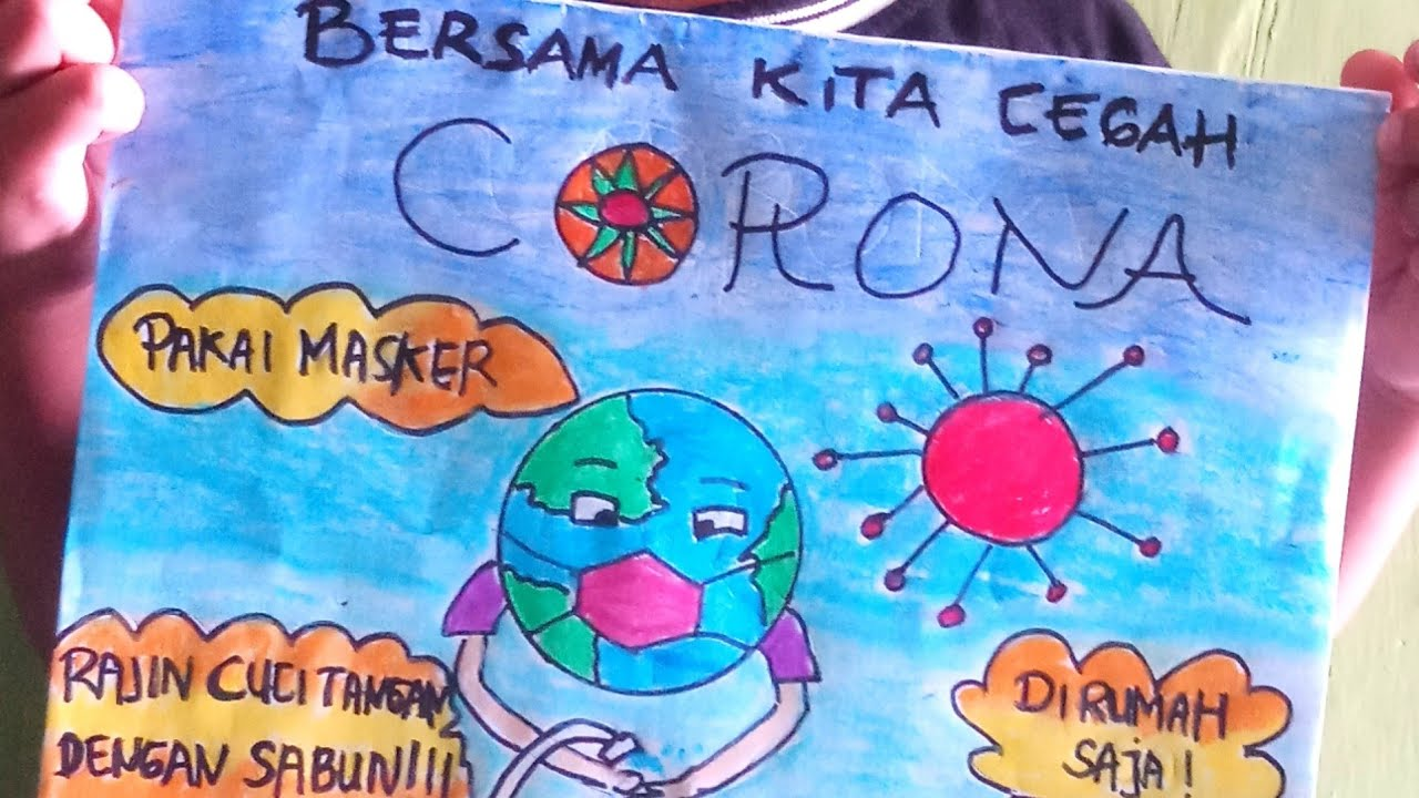 Poster Mewarna Covid 19 Stay At Home Cartoon - DOKUMEN ...