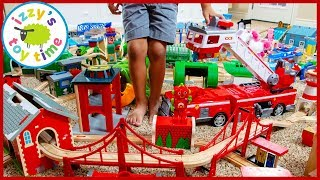 The Most COLORFUL THOMAS TRACK EVER! With Paw Patrol FIRETRUCKS!