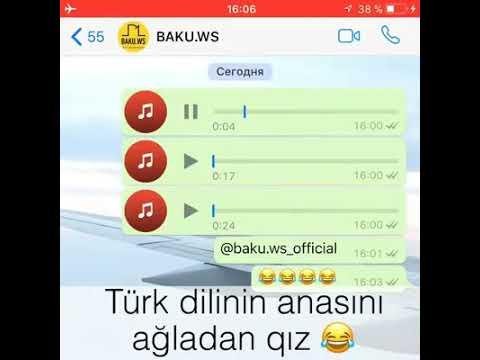 Turk dilinde danishmaq isteyen qiz