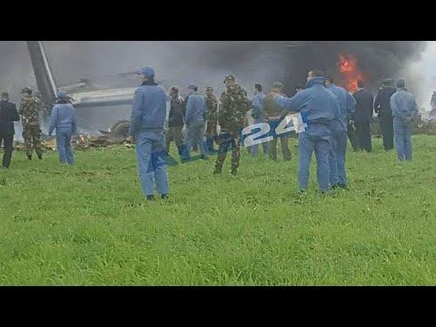 Military plane crashes in Algeria 'killing several people'