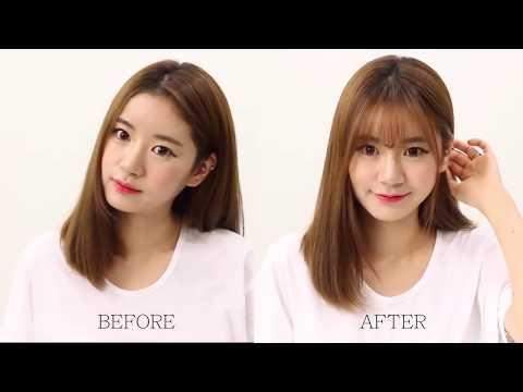 Hướng dẫn cách tự tỉa tóc mái thưa kiểu Hàn Quốc