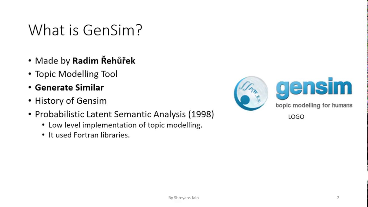 Tutorial on GenSim, a tool for Topic Modelling (Part 1)