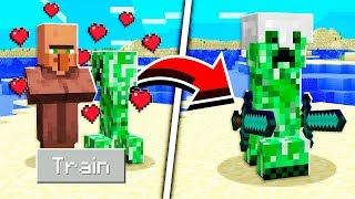 How to TRAIN CREEPERS in Minecraft Tutorial! (Pocket Edition, Xbox, PC)
