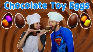 How To Make Kinder Toy Eggs DIY Chocolate Surprise Egg Toys Tutorial Huevos Sorpresa