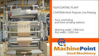 COATEMA Multi Purpose Line Prepreg Used FILM COATING PLANT Machines MachinePoint