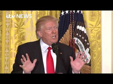 Trump attacks 'fake news' in fiery media conference