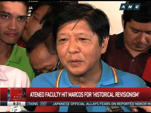 Baixar Ateneo professors accuse Marcos Jr. of 'historical revisionism'