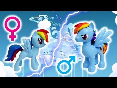 Pony Custom Tutorial - Transform Rainbow Dash To A BOY! Rainbow Blitz