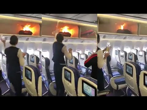 Power Bank catches fire onboard a China Southern Airlines flight, Watch | Oneindia news