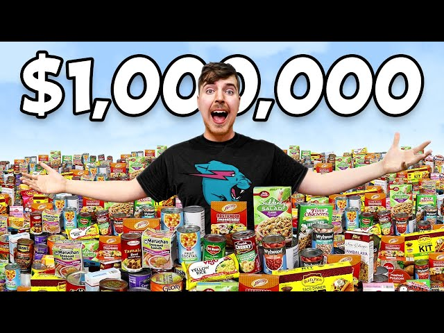 Giving $1,000,000 Of Food To People In Need