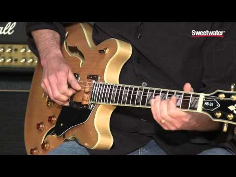Washburn HB35 Hollowbody Electric Guitar Demo by Sweetwater Sound