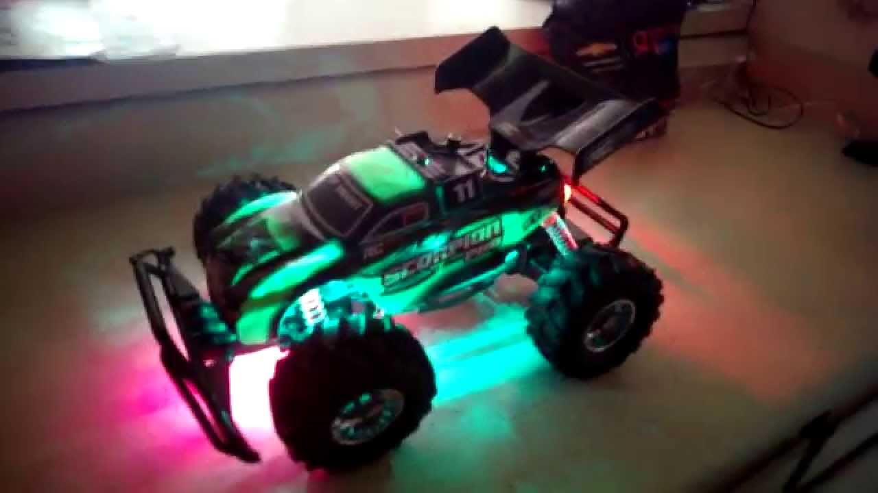 How To Remove A Car Battery >> New Bright RC F/F 12.8V Scorpion Pro LED upgrade - YouTube