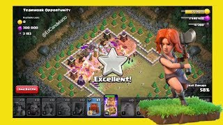 Teamwork Opportunity ☆☆☆ Clash of Clans ☆☆☆ Goblin Map No. 63 ☆☆☆ (How to get 3 stars) TH10