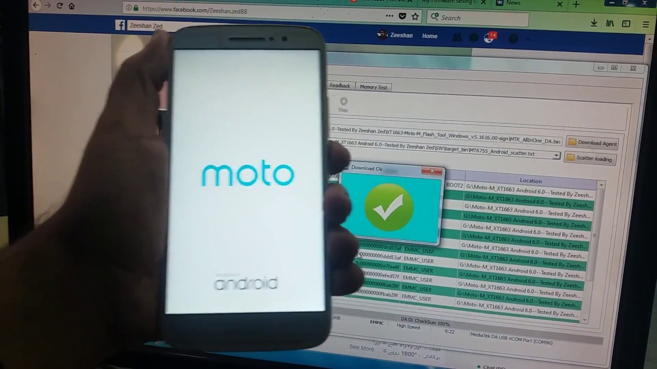 Motorola Moto M XT1663 After Flash Dead Recoverd By Zeeshan Zed 2017 2018