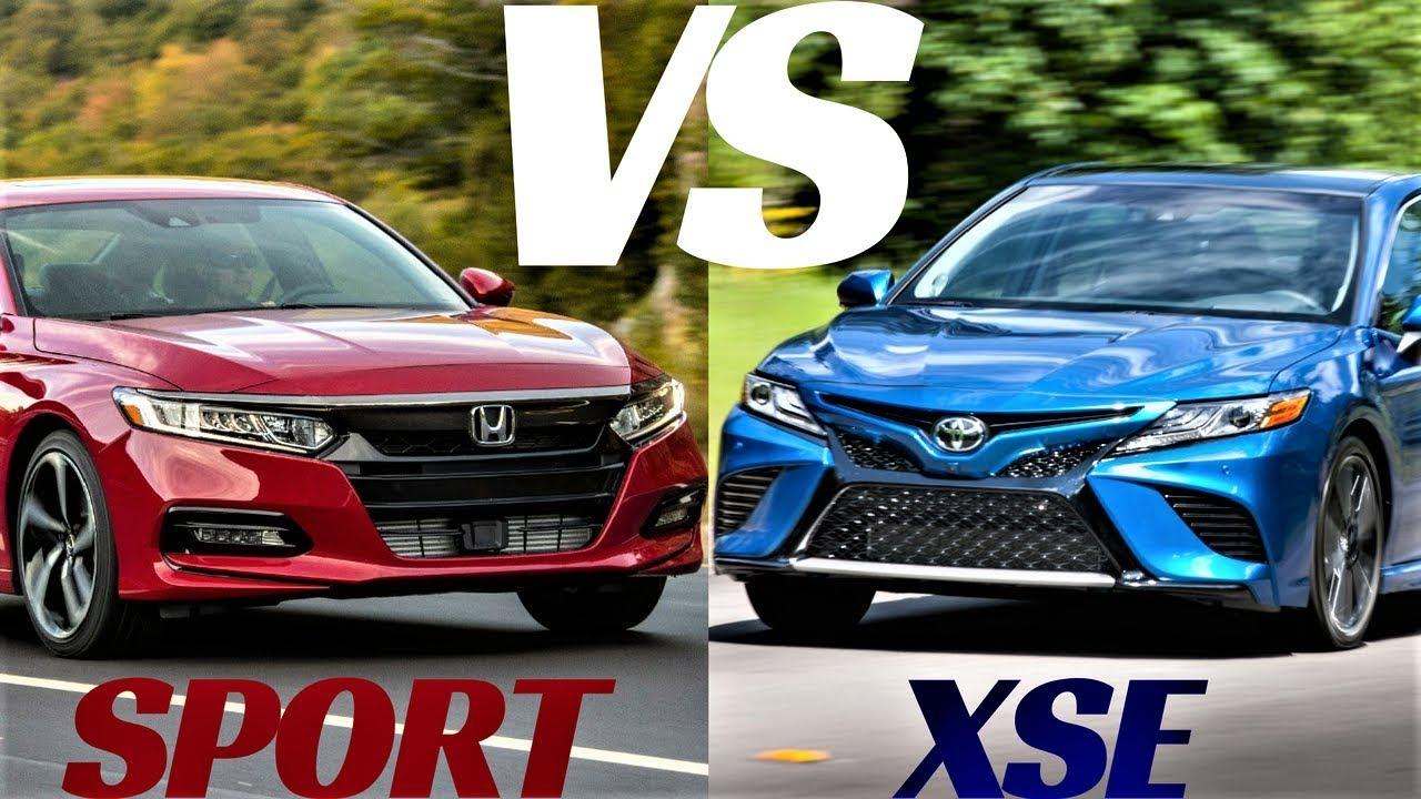 2018 Toyota Camry Xse Vs Honda Accord Sport Design Comparison