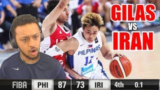 THEY PULLED OUT THE WIN!! GILAS PILIPINAS VS IRAN FIBA ASIA 2015 HIGHLIGHT REACTION