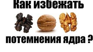 Как избежать потемнение ядра грецкого ореха?