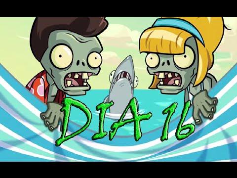 Plants Vs Zombies 2, [Playa De La Gran Ola, Dia 16] - [Big Wave Beach, Day 16]