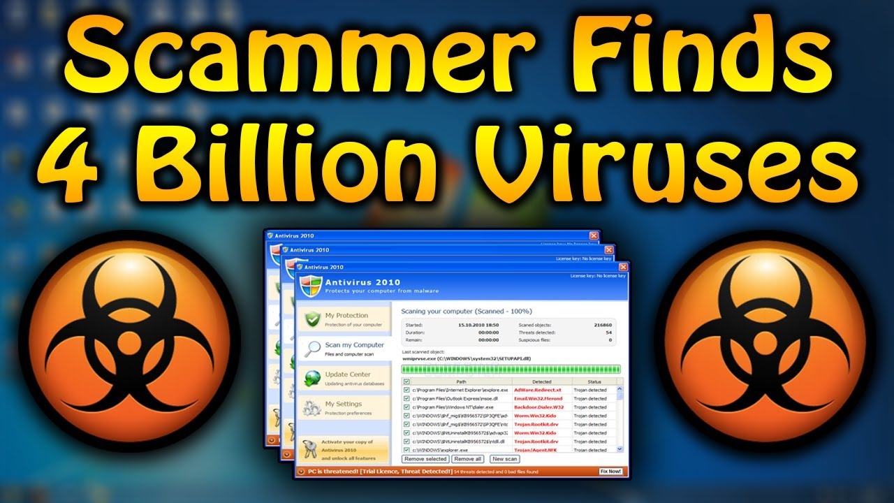 Scammer Finds 4 2 Billion Viruses! | Tech Support Scammer Trolling