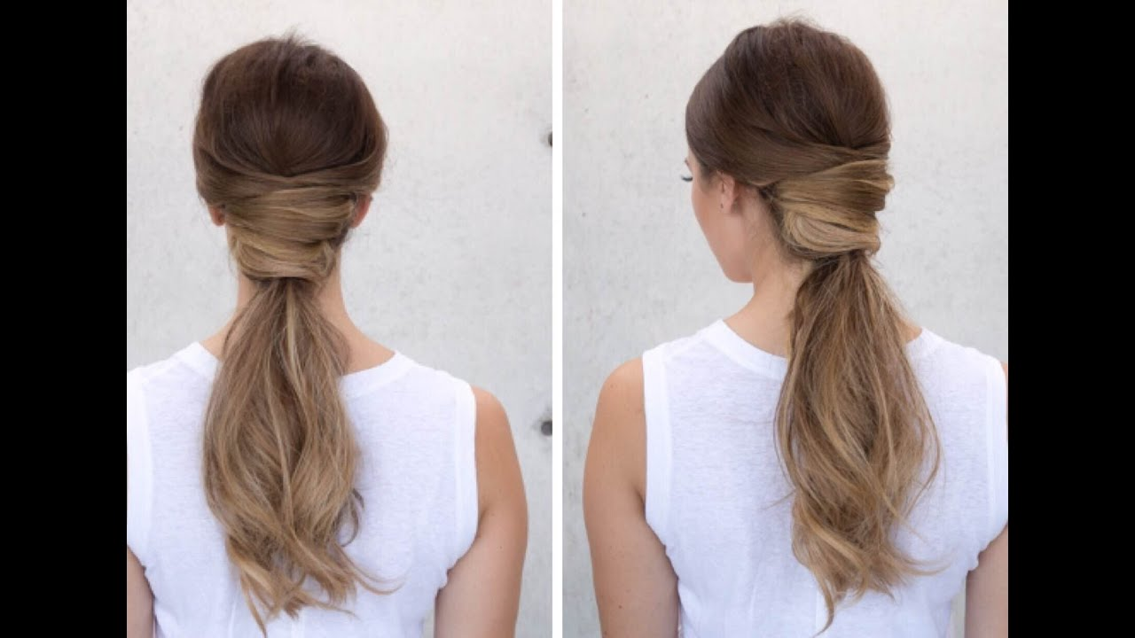 """criss cross """"ponytail"""" hairstyle"""