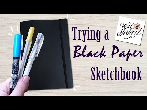 Trying out a Black Paper Sketchbook:  Well Inked Art Supplies Box Unboxing