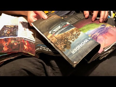 ASMR - Come Hangout With Me - Video Game Magazine Page Turning & Rambling