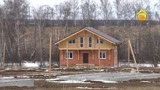 видео Дома в стиле шале, отделка конструкции