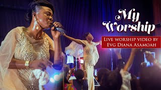 Evaangelist Diana Asamoah delivers a powerful live worship