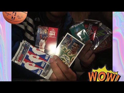 Vintage Nba Cards (funny unboxing) !! ft.Girlfriend