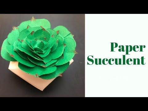 PAPER SUCCULENT / easy paper succulents / DIY paper craft ideas / DIY craft / paper cactus