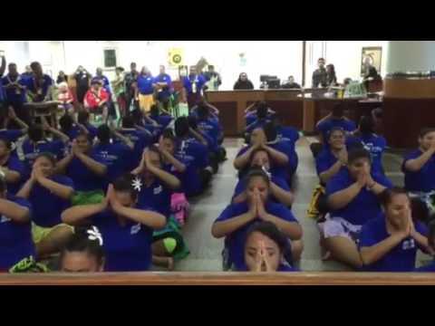American Samoa performing at Bank of Guam