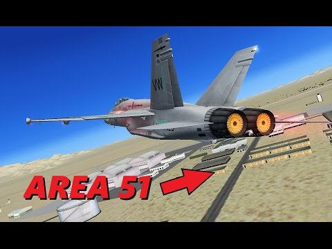 UNAUTHORIZED Flight into AREA 51! Fighter Jets & Air Force One (FSX Multiplayer)