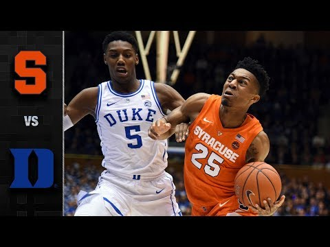 Syracuse vs. Duke Basketball Highlight (2018-19)