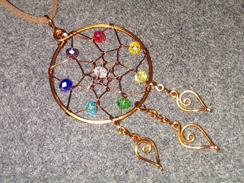 How To Make Quot Dreamcatcher Quot With Colorful Beads Diy Wire