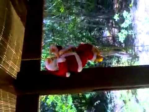 Papa noel escalador a pila AA