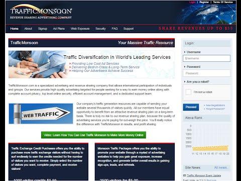 اقوى شرح لموقع Trafficmonsoon + استراتيجية الربح + إثبات الدفع الفوري