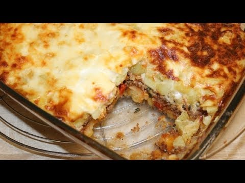 Gratin De Pomme De Terre Au Bœuf Hache Facile Cuisinerapide Youtube