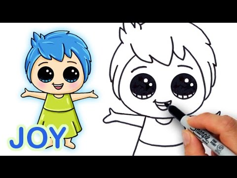 How to Draw Joy from Pixar Inside Out Cute and Easy